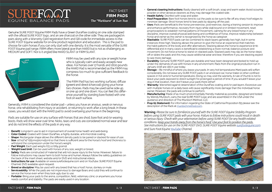 SureFoot FactSheet FIRM spread 2021