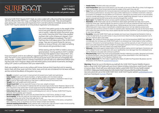 SureFoot FactSheet SOFT spread 2021